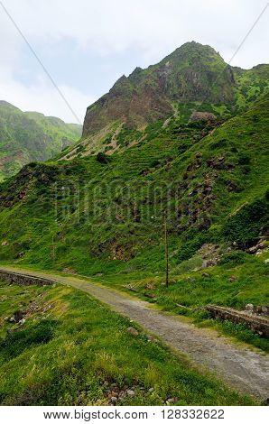 Cobblestone Road Un The Mountains Of Fajan D'agua