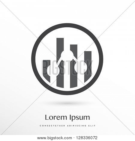 DIGITAL ANALYTICS / STATISTICS VECTOR LOGO / ICON