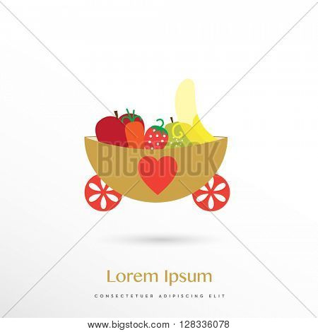 HEALTHY NUTRITION FOR KIDS LOGO / ICON