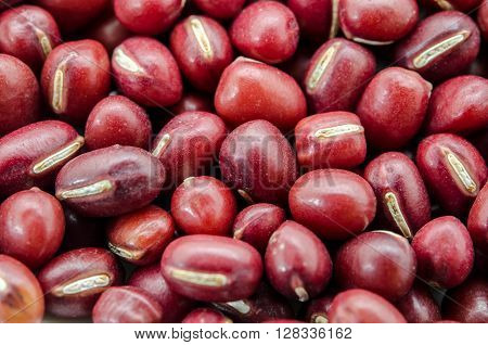 The azuki beans or red beans background.