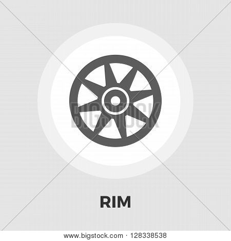 Car rim icon vector. Flat icon isolated on the white background. Editable EPS file. Vector illustration.