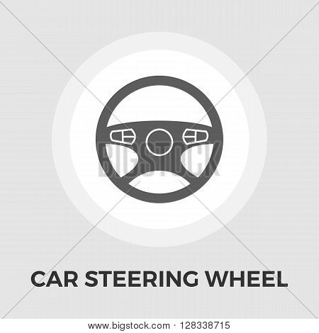 Car Steering Wheel icon vector. Flat icon isolated on the white background. Editable EPS file. Vector illustration.