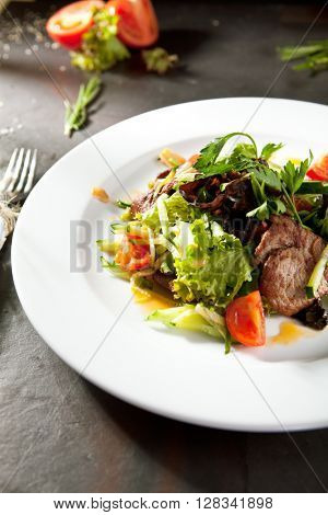 Warm Salad with Spicy Veal