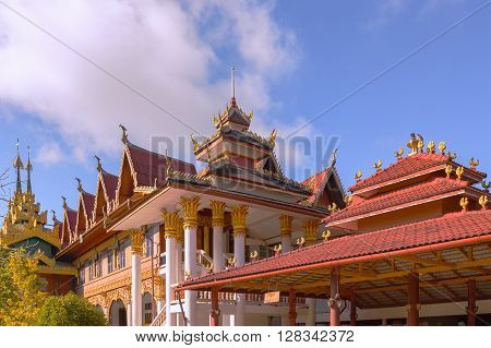 Wat Wang Wiwekaram, Most Revered Buddhist Temple In Sangkhla Buri District In Sangkhlaburi District,
