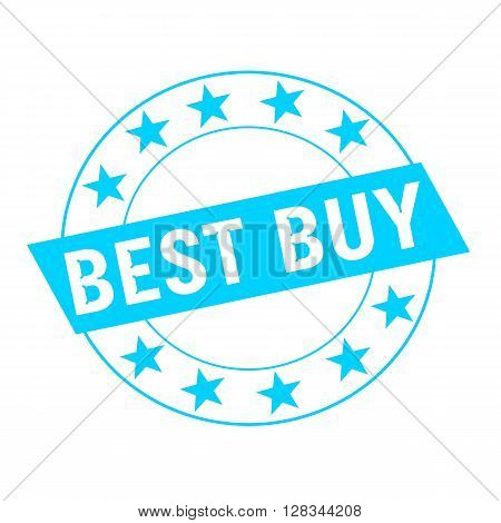 best buy white wording on blue Rectangle and Circle blue stars