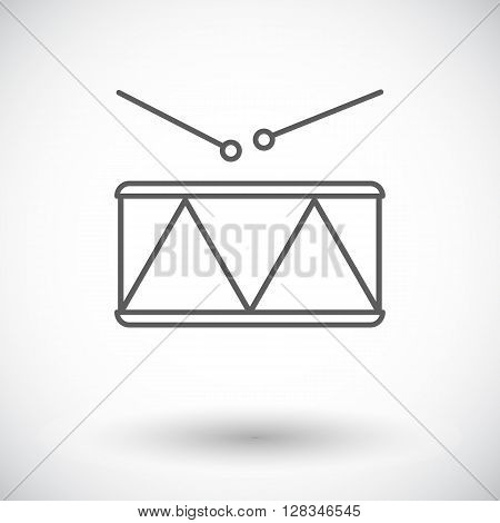 Drum icon. Thin line flat vector related icon for web and mobile applications. It can be used as - logo, pictogram, icon, infographic element. Vector Illustration.