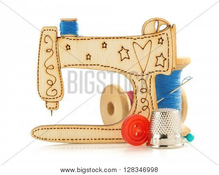 sewing machine toy isolated on white background