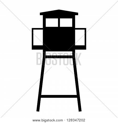 Watchtower ( shade picture ) on white background