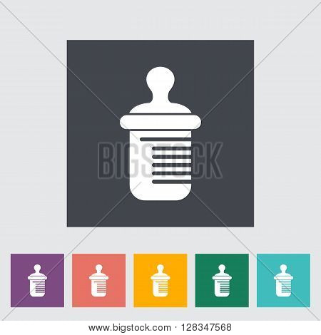 Feeding bottle icon. Thin line flat vector related icon for web and mobile applications. It can be used as - logo, pictogram, icon, infographic element. Vector Illustration.