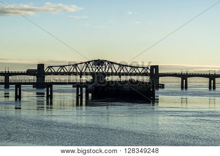 Span of Kincardine bridge over the River Forth