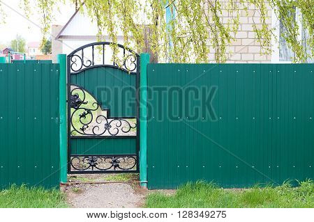 Entry Gates And Aztec Profile Fence