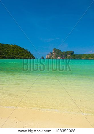On a Beach Serene Waters