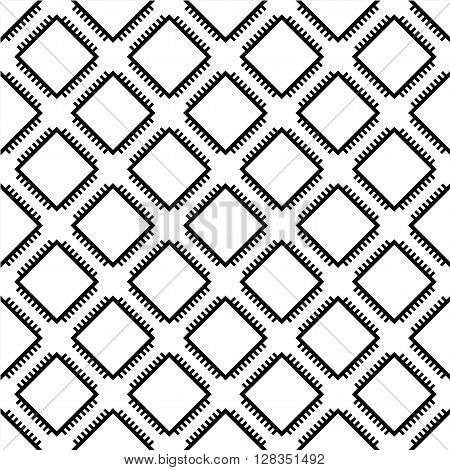 Seamless wallpaper pattern from processors, technology background, vector illustration