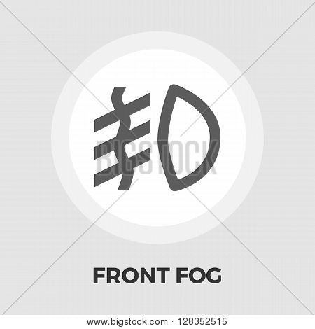Front fog light icon vector. Flat icon isolated on the white background. Editable EPS file. Vector illustration.