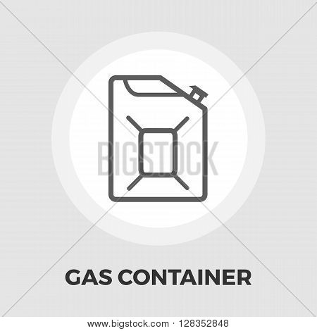 Gas Containers icon vector. Flat icon isolated on the white background. Editable EPS file. Vector illustration.