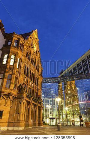 Dortmund, North Rhine-Westphalia, Germany - December 29, 2015: Old Town Hall at the Friedensplatz in Dortmund in Germany.