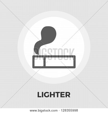 Lighter icon vector. Flat icon isolated on the white background. Editable EPS file. Vector illustration.
