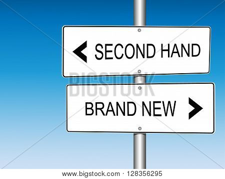 Second Hand versus Brand New Road Signs Announcement