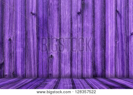 Colorful Creative Purple Wood Background with Floor