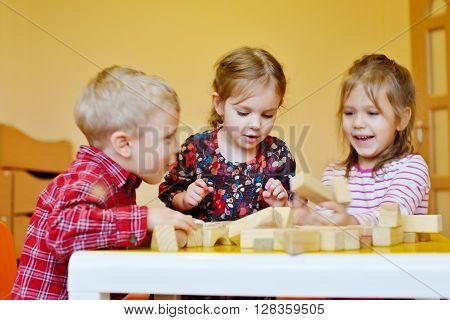 Children Playing Blocks