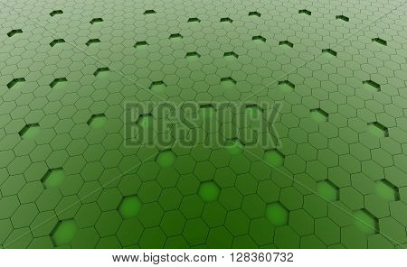Hexagonal green cell texture. Speaker grille. Fashion geometric design. Graphic style for wallpaper wrapping fabric apparel print production.