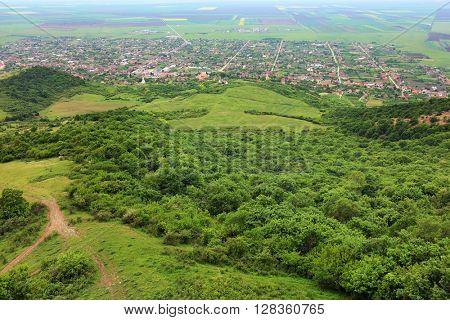 Transylvanian village in a mountainous region
