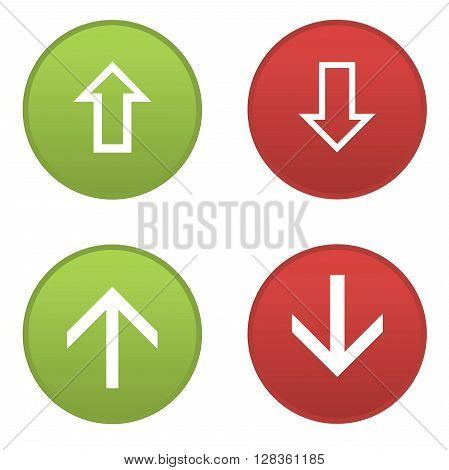 Set of arrows icons isolated in white background