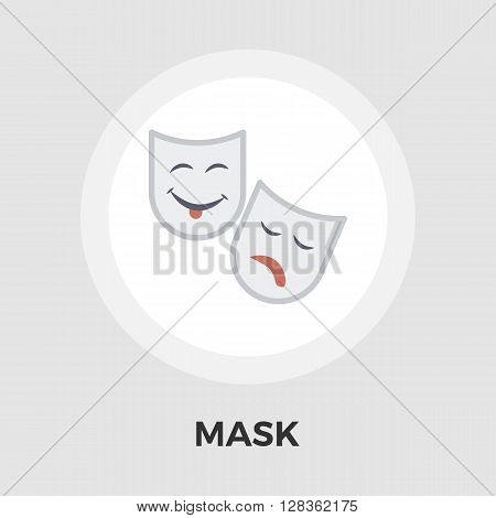 Mask icon vector. Flat icon isolated on the white background. Editable EPS file. Vector illustration.