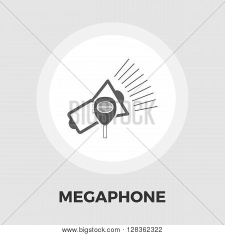 Megaphone icon vector. Flat icon isolated on the white background. Editable EPS file. Vector illustration.