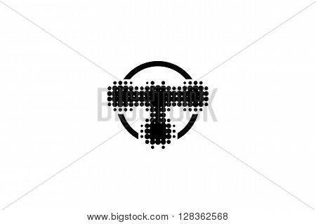 T Tot  Music Logo Design With Circle