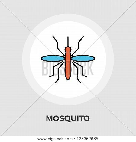 Mosquito icon vector. Flat icon isolated on the white background. Editable EPS file. Vector illustration.