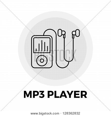 MP3 Player icon vector. Flat icon isolated on the white background. Editable EPS file. Vector illustration.