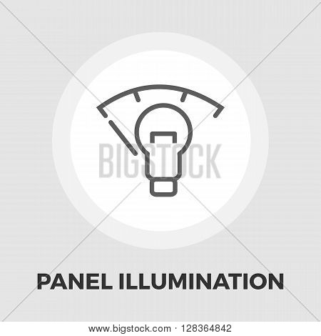 Car dashboard panel illumination icon vector. Flat icon isolated on the white background. Editable EPS file. Vector illustration.