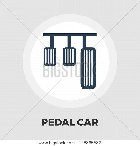Pedal car icon vector. Flat icon isolated on the white background. Editable EPS file. Vector illustration.