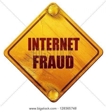 Internet fraud background, 3D rendering, isolated grunge yellow