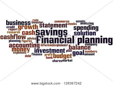 Financial Planning, Word Cloud Concept