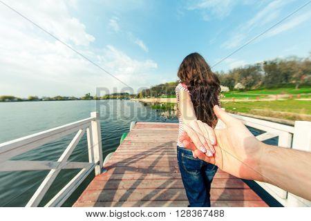 Women selfie in outdoor nature