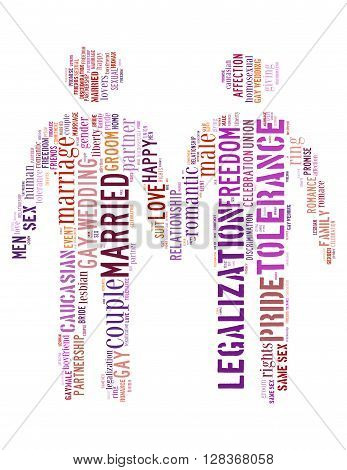 Gay Couple, Word Cloud Concept 6