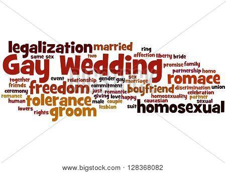 Gay Wedding, Word Cloud Concept