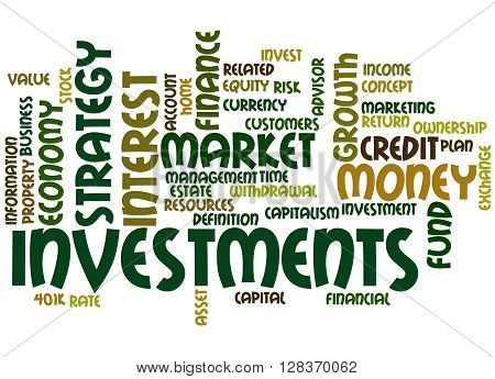 Investments, Word Cloud Concept 5