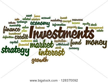 Investments, Word Cloud Concept 7
