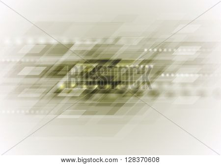 Light dirty green abstract technology background. Geometric tech vector design with rhombus. Vector hi-tech illustration