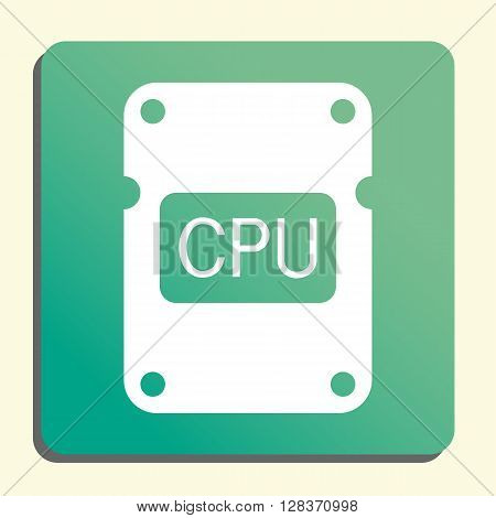 Cpu Icon In Vector Format. Premium Quality Cpu Symbol. Web Graphic Cpu Sign On Green Light Backgroun