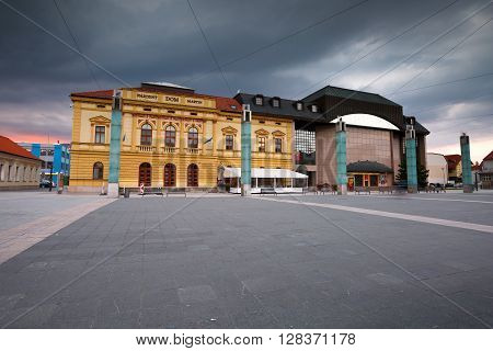 MARTIN, SLOVAKIA - MAY 2, 2016: Theatre in the centre of Martin, Slovakia on May 2, 2016.