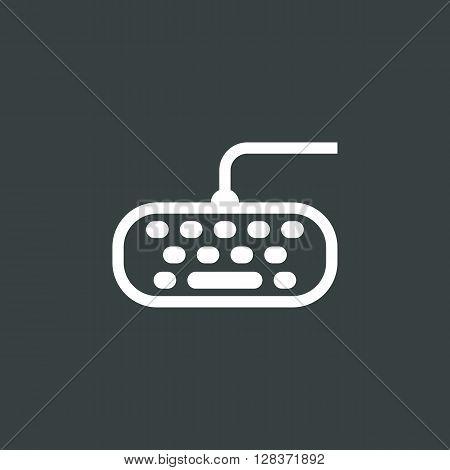 Keyboard Icon In Vector Format. Premium Quality Keyboard Symbol. Web Graphic Keyboard Sign On Dark B