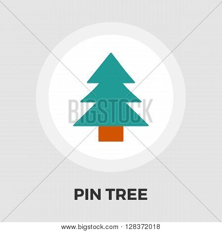 Conifer icon vector. Flat icon isolated on the white background. Editable EPS file. Vector illustration.