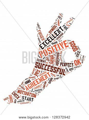 Ok Sign, Word Cloud Concept 4