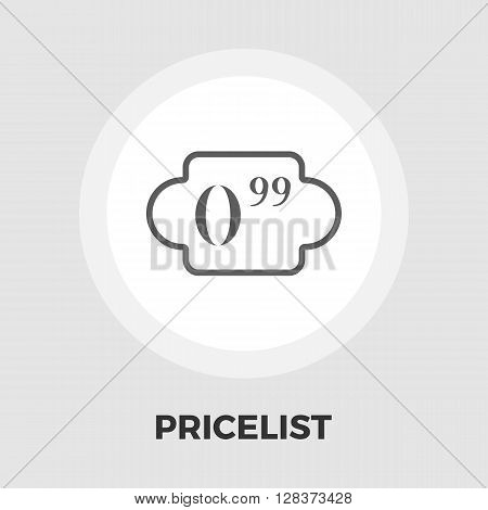 Price list icon vector. Flat icon isolated on the white background. Editable EPS file. Vector illustration.