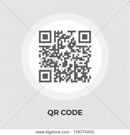 QR code icon vector. Flat icon isolated on the white background. Editable EPS file. Vector illustration.