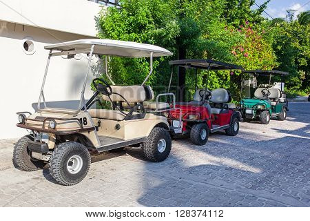 Golf Carts In A Raw